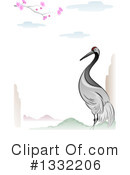 Royalty-Free (RF) Crane Bird Clipart Illustration #1332206