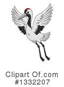 Crane Bird Clipart #1332207 by BNP Design Studio