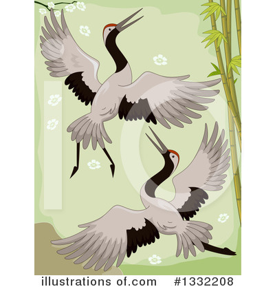 Crane Bird Clipart #1332208 by BNP Design Studio