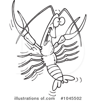 Crawdad Clipart #1045502 by toonaday