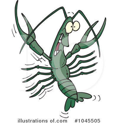 Crawdad Clipart #1045505 by toonaday