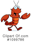 Royalty-Free (RF) Crawdad Clipart Illustration #1099786