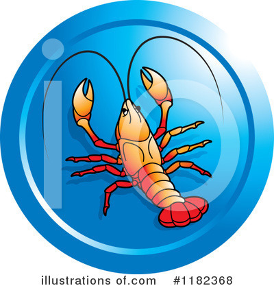 Royalty-Free (RF) Crawdad Clipart Illustration by Lal Perera - Stock Sample #1182368