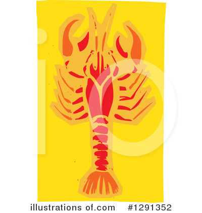 Royalty-Free (RF) Crawdad Clipart Illustration by xunantunich - Stock Sample #1291352