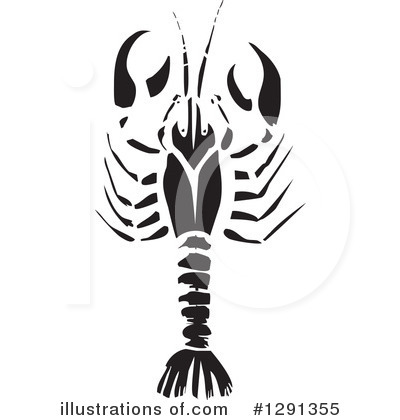 Royalty-Free (RF) Crawdad Clipart Illustration by xunantunich - Stock Sample #1291355