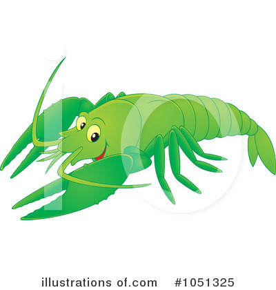Royalty-Free (RF) Crayfish Clipart Illustration by Alex Bannykh - Stock Sample #1051325