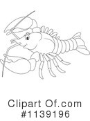 Royalty-Free (RF) Crayfish Clipart Illustration #1139196