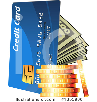 Credit Card Clipart #1355960 by Vector Tradition SM