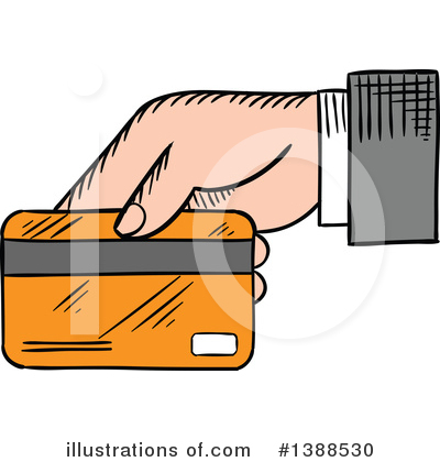 Credit Card Clipart #1388530 by Vector Tradition SM