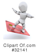 Royalty-Free (RF) Credit Card Clipart Illustration #32141