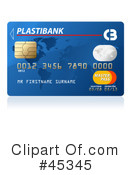 Credit Card Clipart #45345