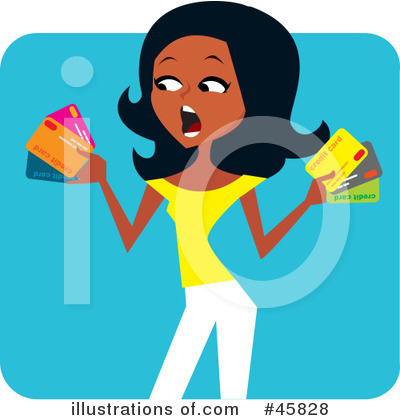 Royalty-Free (RF) Credit Card Clipart Illustration by Monica - Stock Sample #45828