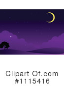 Royalty-Free (RF) Crescent Moon Clipart Illustration #1115416