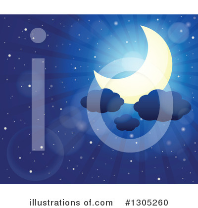 Moon Clipart #1305260 by visekart