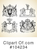 Royalty-Free (RF) Crests Clipart Illustration #104234