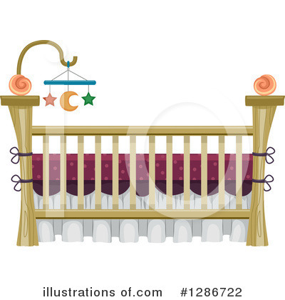 Crib Clipart #1286722 by BNP Design Studio