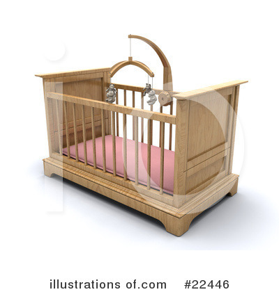 Crib Clipart #22446 by KJ Pargeter