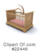 Royalty-Free (RF) crib Clipart Illustration #22446