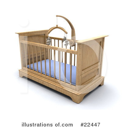 Crib Clipart #22447 by KJ Pargeter