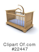 Royalty-Free (RF) crib Clipart Illustration #22447