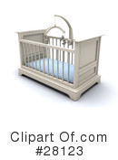 Royalty-Free (RF) crib Clipart Illustration #28123