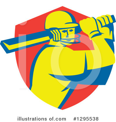 Cricket Player Clipart #1295538 by patrimonio