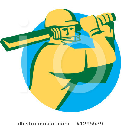 Cricket Player Clipart #1295539 by patrimonio