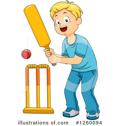 Cricket Player Clipart #1260094 by BNP Design Studio