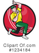 Royalty-Free (RF) Cricket Player Clipart Illustration #1234184
