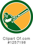 Cricket Player Clipart #1257198 by patrimonio