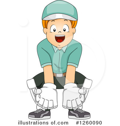 Cricket Player Clipart #1260090 by BNP Design Studio