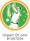 Royalty-Free (RF) Cricket Player Clipart Illustration #1267204