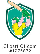 Cricket Player Clipart #1276872 by patrimonio