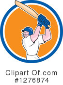 Cricket Player Clipart #1276874 by patrimonio