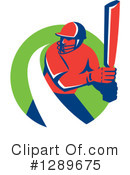 Cricket Player Clipart #1289675 by patrimonio