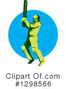 Cricket Player Clipart #1298566 by patrimonio