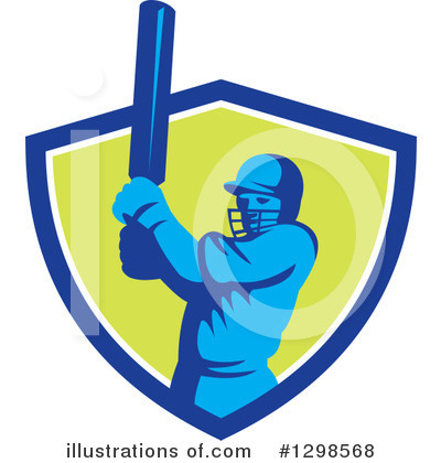 Cricket Player Clipart #1298568 by patrimonio