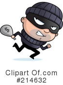 Royalty-Free (RF) Criminal Clipart Illustration #214632