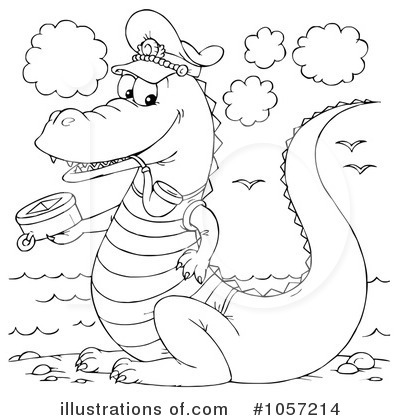 Royalty-Free (RF) Crocodile Clipart Illustration by Alex Bannykh - Stock Sample #1057214