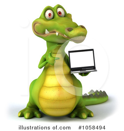 Royalty-Free (RF) Crocodile Clipart Illustration by Julos - Stock Sample #1058494