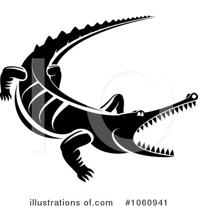 Crocodile Clipart #1060941 by Vector Tradition SM