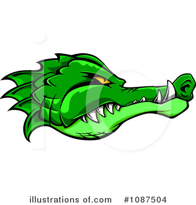 Crocodile Clipart #1087504 by Vector Tradition SM