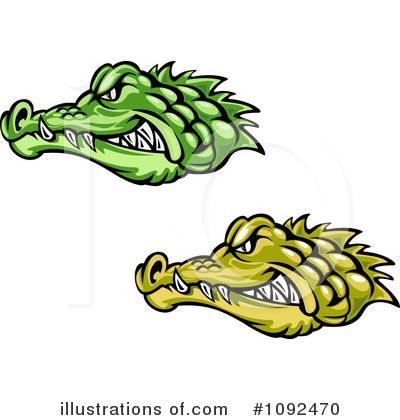 Crocodile Clipart #1092470 by Vector Tradition SM