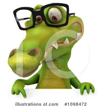 Crocodile Clipart #1098472 - Illustration by Julos