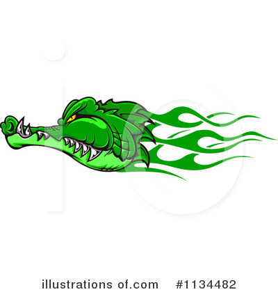 Crocodile Clipart #1134482 by Vector Tradition SM