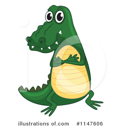 Crocodile Clipart #1147606 by Graphics RF