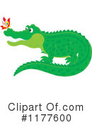Royalty-Free (RF) Crocodile Clipart Illustration #1177600