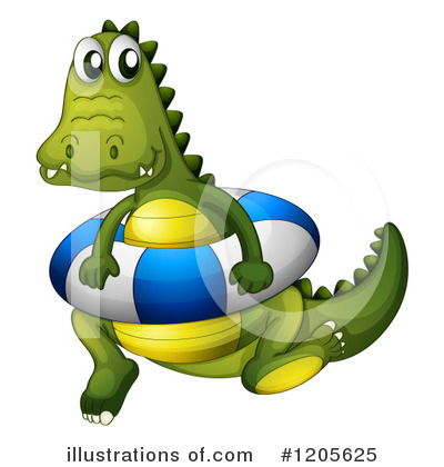 Royalty-Free (RF) Crocodile Clipart Illustration by Graphics RF - Stock Sample #1205625