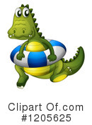 Crocodile Clipart #1205625 by Graphics RF