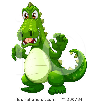 Crocodile Clipart #1260734 by Graphics RF